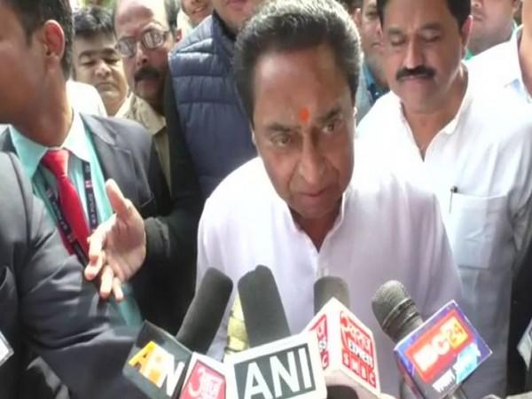 Madhya Pradesh CM Kamal Nath speaks to media in Chindwara on Friday [Photo/ANI]
