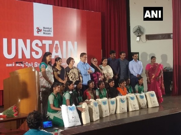 MNM leader Kamal Haasan during the launch of UNSTAIN in Chennai, Tamil Nadu on Thursday. Photo/ANI