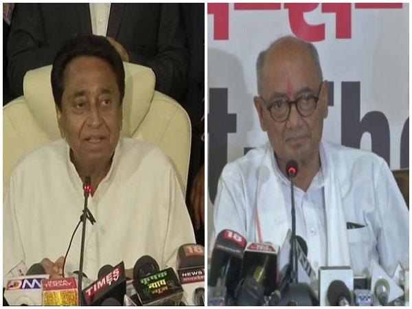 MP CM Kamal Nath and Digvijaya Singh (File photo)
