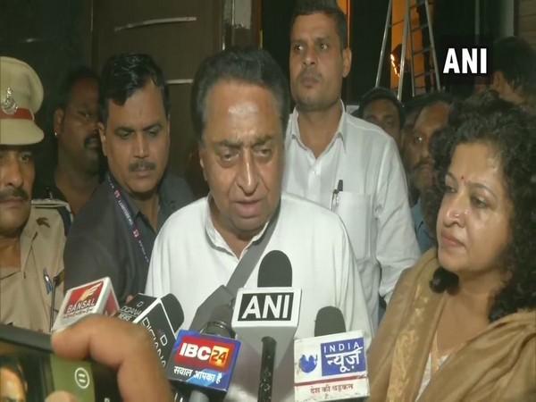 Madhya Pradesh Chief Minister Kamal Nath speaking to media.