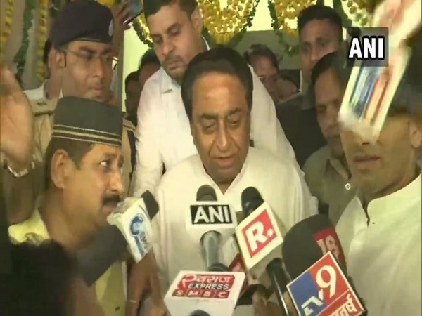 Chief Minister Kamal Nath speaking to reporters in Bhopal, Madhya Pradesh on Tuesday.