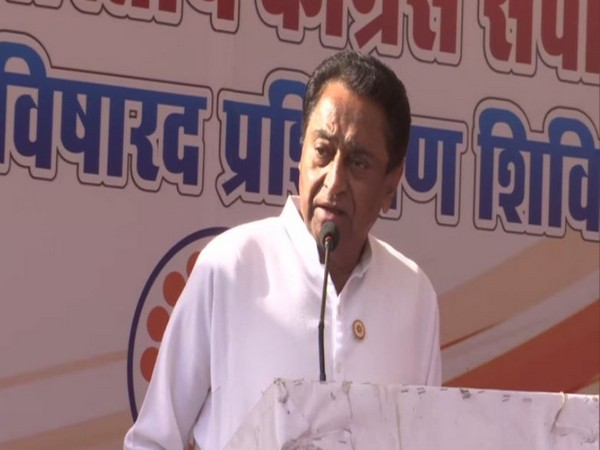 Kamal Nath speaking at an event in Bhopal on Thursday. Photo/ANI