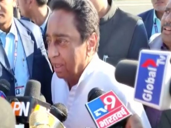 MP Chief Minister Kamal Nath talking to reporters in Chindwada on Sunday