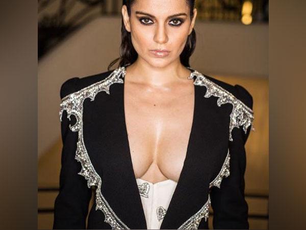 Bollywood actress Kangana Ranaut at Cannes on May 16 (Photo/ Kangana's Instagram)