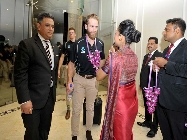 New Zealand captain Kane Williamson being greeted on arrival in Sri Lanka on Saturday. (Photo/ICC Twitter)