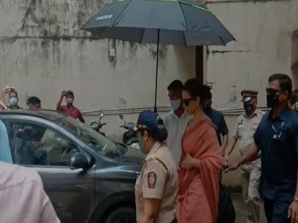 Actor Kangana Ranaut leaving Andheri Court on Monday (Photo/ANI)