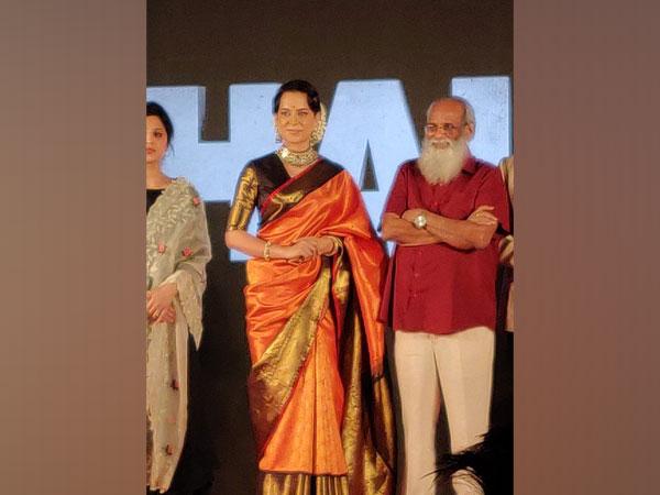 Kangana Ranaut at the Mumbai trailer launch event of 'Thalaivi'