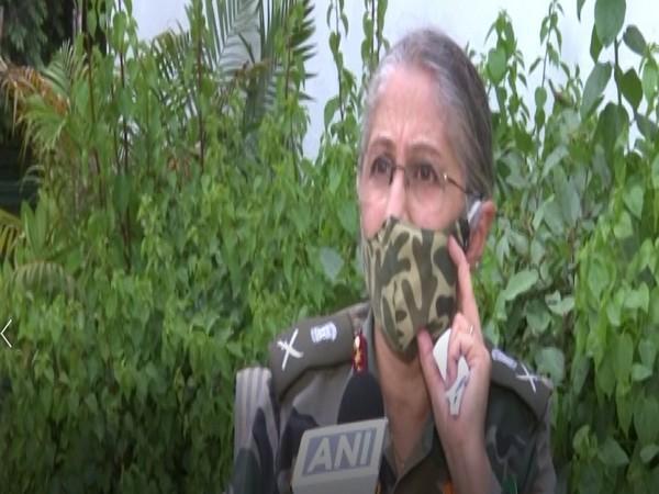 Lieutenant General Madhuri Kanitkar, Deputy Chief Integrated Defence Staff (Medical) speaking to ANI in Delhi. (Photo/ANI)