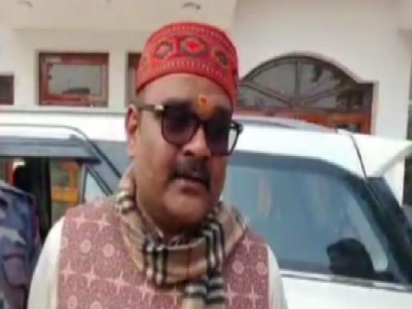 Kannauj MP Subrata Pathak speaking to media on Tuesday.