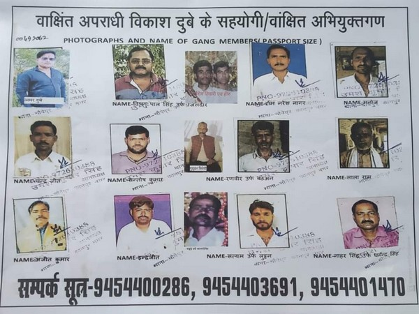 Photos of accomplices of Kanpur encounter main accused Vikas Dubey released by Police. (Photo/ANI)