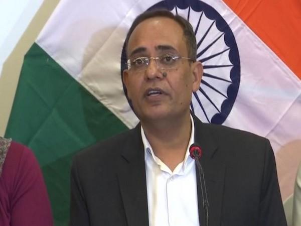 Jammu and Kashmir Principal Secretary Rohit Kansal speaking during the press conference in Srinagar on Monday. (Photo/ANI)