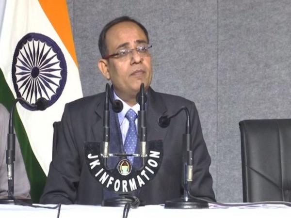Jammu and Kashmir Principal Secretary Rohit Kansal during a press briefing in Jammu on Tuesday. Photo/ANI