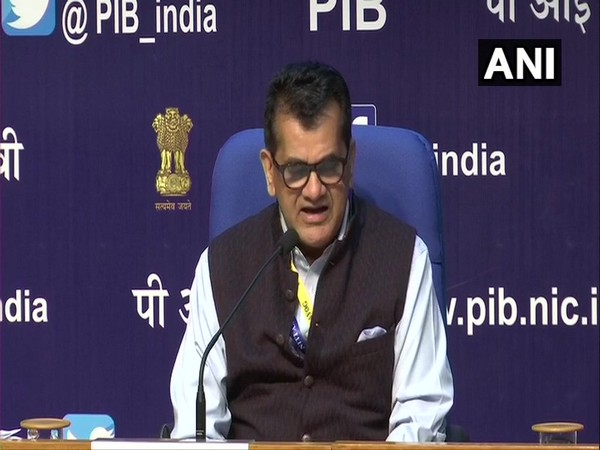 NITI Aayog CEO, Amitabh Kant addressing press conference in delhi on Saturday