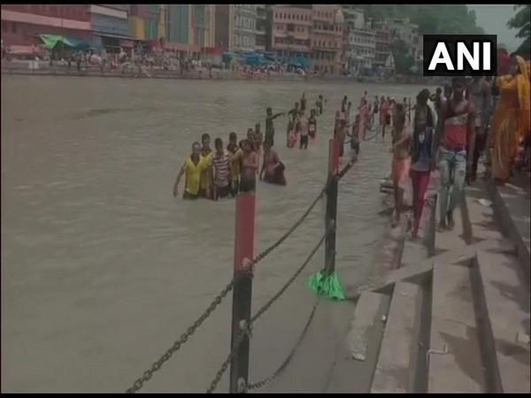 SDRF and Jal Police teams deployed to rescue kanwariyas from drowning near Ganga river in Haridwar. (Photo/ANI)