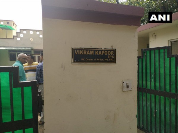 Visual from DCP Vikram Kapoor's residence. (Photo/ANI)