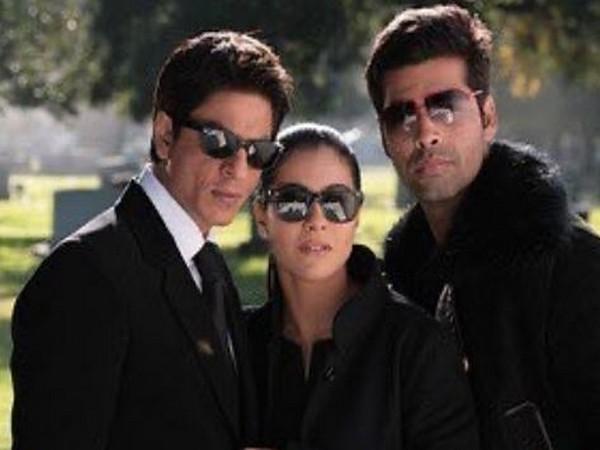 Shah Rukh Khan along with Kajol and Karan Johar (Image courtesy: Instagram)
