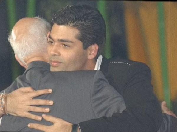 Karan Johar with his late father and producer Yash Johar (Image source: Instagram)