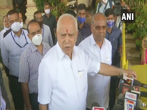 Karnataka Chief Minister BS Yediyurappa speaking to media on Friday. (Photo/ANI)