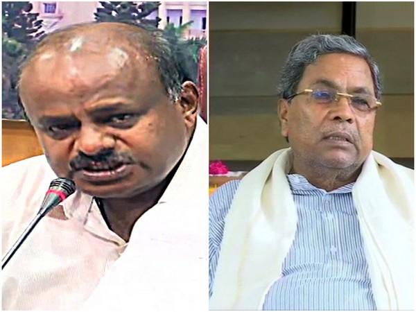 Former Chief Ministers HD Kumaraswamy(L) and Siddaramaiah (R).