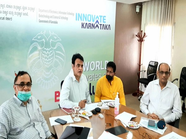 Karnataka Deputy Chief Minister CN Ashwath Narayan in a meeting with heads of different agencies and officials.