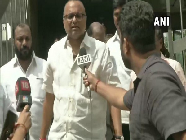 Karti Chidambaram after meeting father,P Chidambaram at CBI Headquarters [Photo/ANI]
