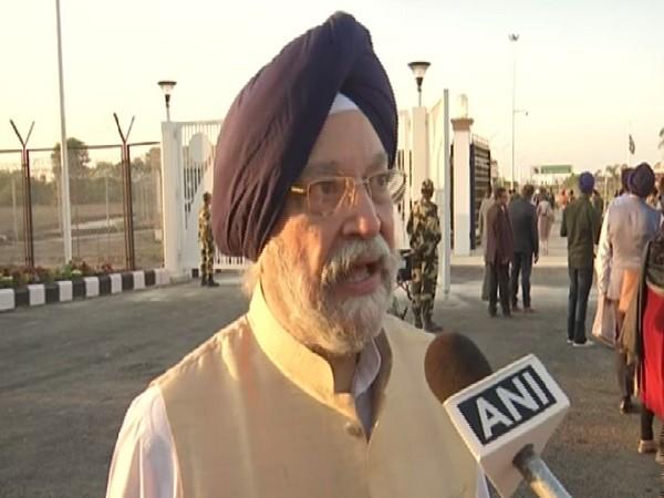 Union Minister Hardeep Singh Puri speaking to ANI in Dera Baba Nanak, Punjab on Saturday