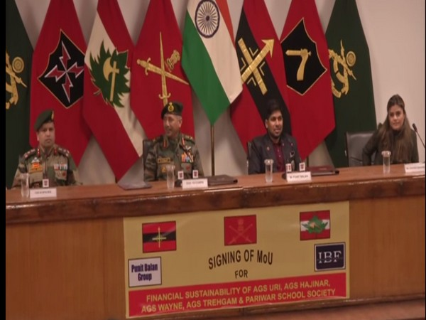 Indian Army's Chinar Corps signs MoU with Indrani Balan Foundation to provide better education facilities to the youths of Kashmir valley