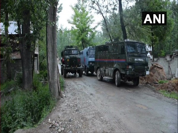 Encounter took place between security forces and terrorist in Pulwama, Jammu and Kashmir on Saturday Photo/ANI.