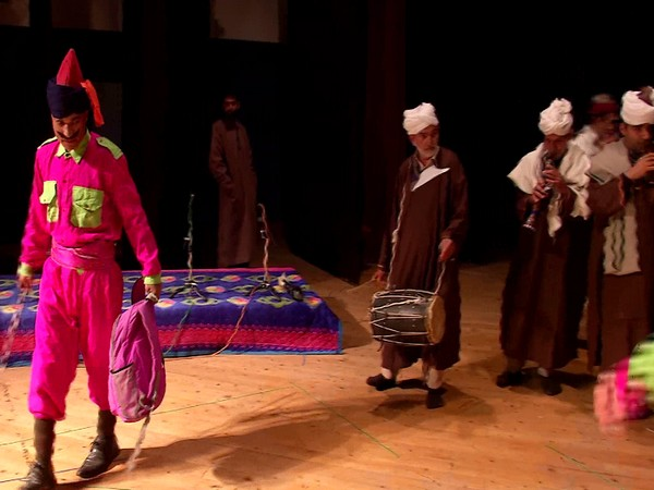 Youth performing traditional folk theatre in Kashmir (Photo/ ANI)