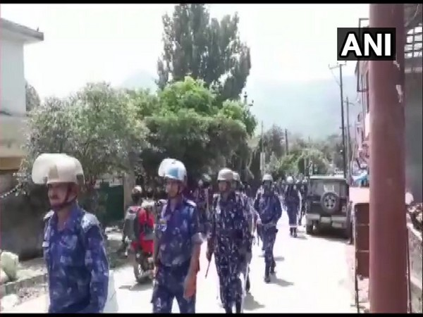 Additional companies of Rapid Action Force deployed in Poonch on Sunday. Photo/ANI