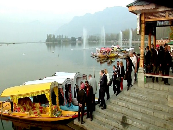 A delegation of European Parliament members at Dal Lake in Srinagar during their visit to Jammu and Kashmir in October last year.