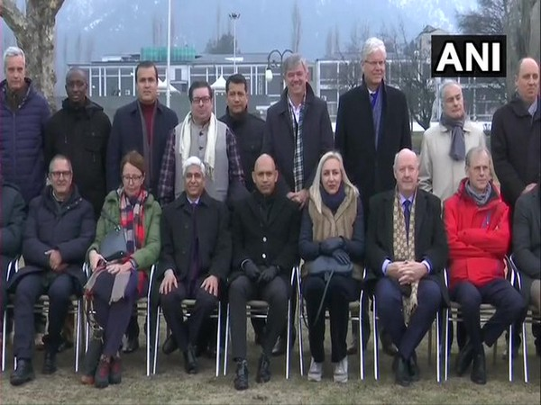 A delegation of 25 foreign envoys which visited Jammu and Kashmir (File photo)