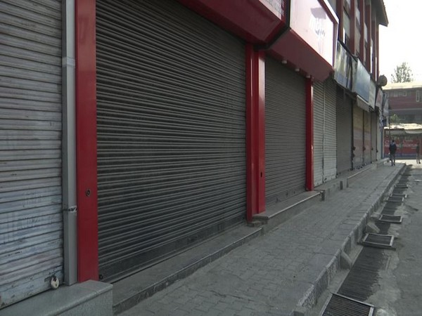 All shops, business establishments were closed and public transport wasn't operational in Kashmir valley on Saturday. (Photo/ANI)