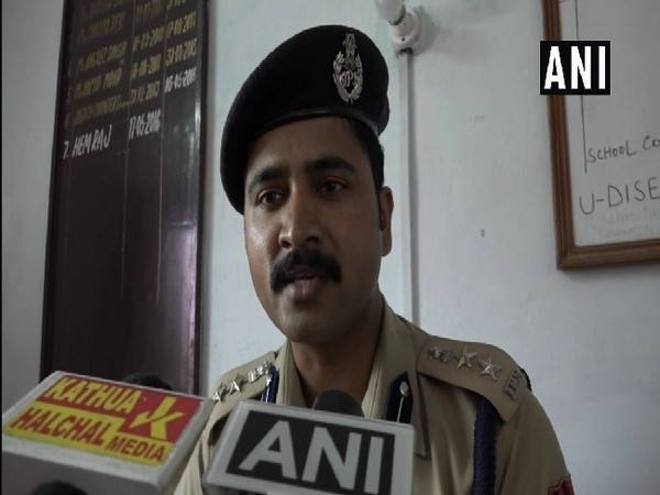 Senior Superintendent of Police (SSP) Kathua, Shridhar Patil speaking to media in Kathua, Jammu and Kashmir on July 13. Photo/ANI