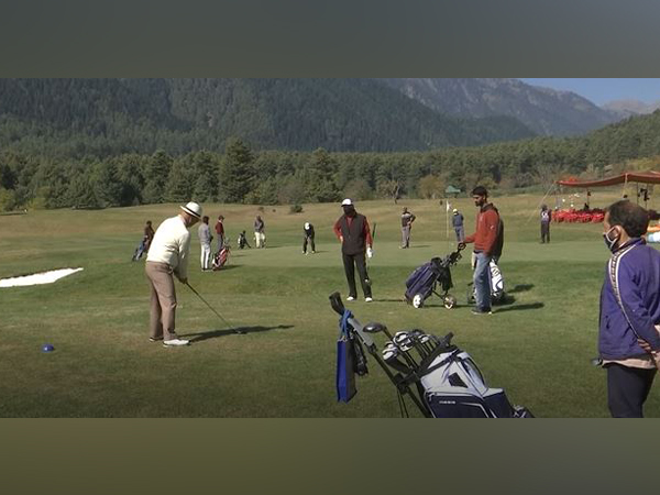 Visual from the tournament organised at Pahalgam Golf Course. (Photo/ANI)