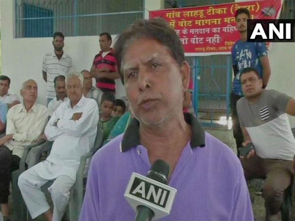 Kartar Singh, resident of Laharu Teeka village in Himachal pradesh talking to ANI on Monday
