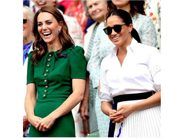Kate Middleton and Meghan Markle during the match at Wimbledon (Image courtesy: Instagram)