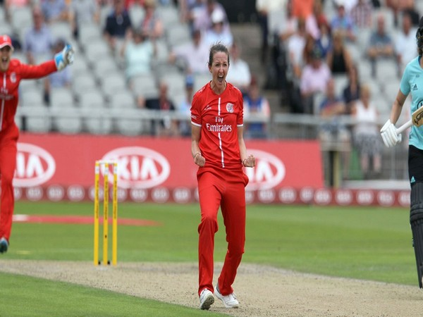England's Kate Cross (Photo/LancsCricketWMN Twitter)