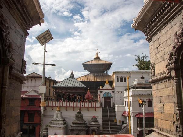 A view of the Pashupatinath Temple near Kathmandu