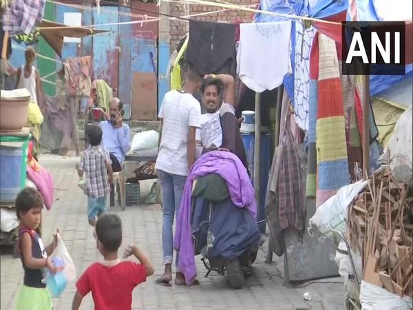 Visuals from Delhi's Kathputli Colony (Photo/ANI)