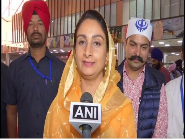 Union Minister Harsimrat Kaur Badal speaking to ANI in Gurdaspur, Punjab on Saturday. Photo/ANI