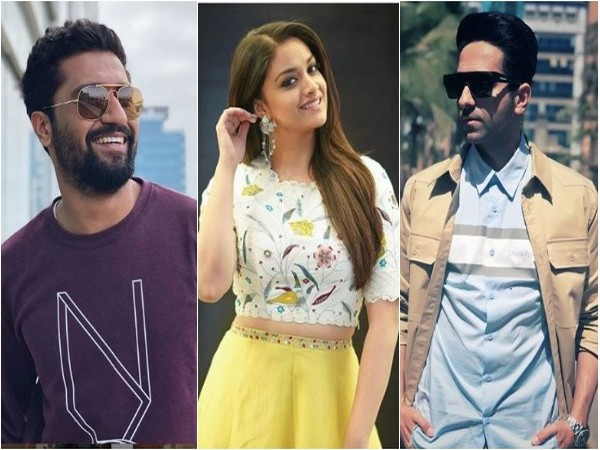 Vicky Kaushal, Keerthy Suresh and Ayushmann Khurrana, Image courtesy: Instagram