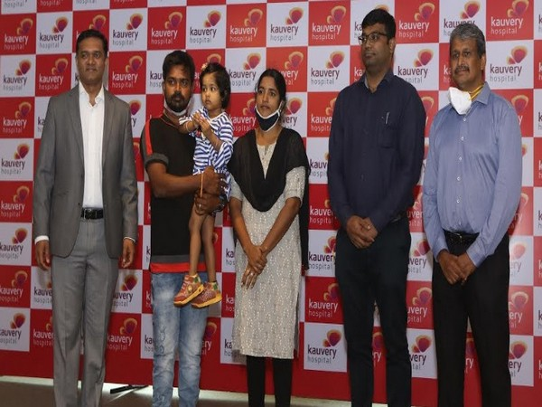 Kauvery Hospital Chennai successfully treated a 2-year-old child for lower back Spondylolisthesis.