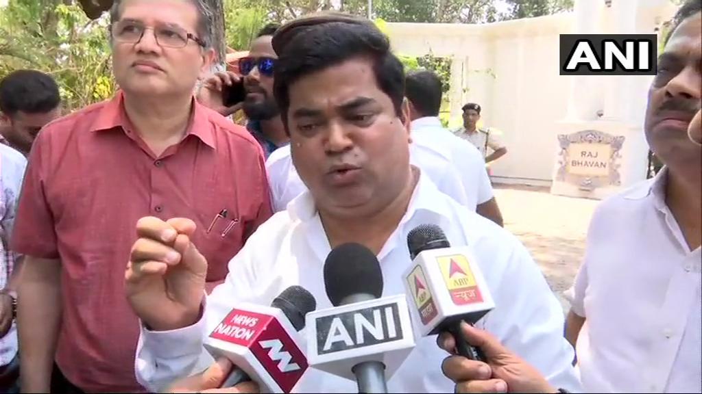 Leader of Opposition in Goa Assembly Chandrakant Kavlekar speaking to media on Monday.