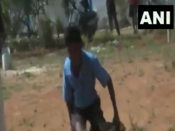 Madda Ram Kawasi, differently able student takes run by crawling on pitch