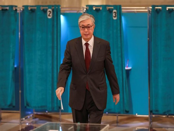 Kassym-Jomart Tokayev votes during presidential election in Nur-Sultan, Kazakhstan on Sunday.