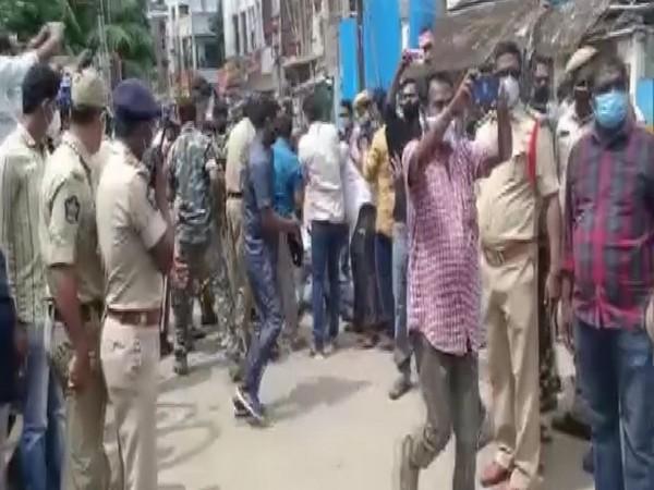 Section 144 was imposed in Amalapuram, Andhra Pradesh on Friday. (Photo/ANI)