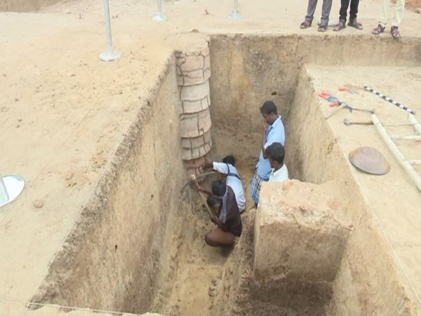 State Archeology Department unearthed four walls which are 2,600 years old. Photo/ANI