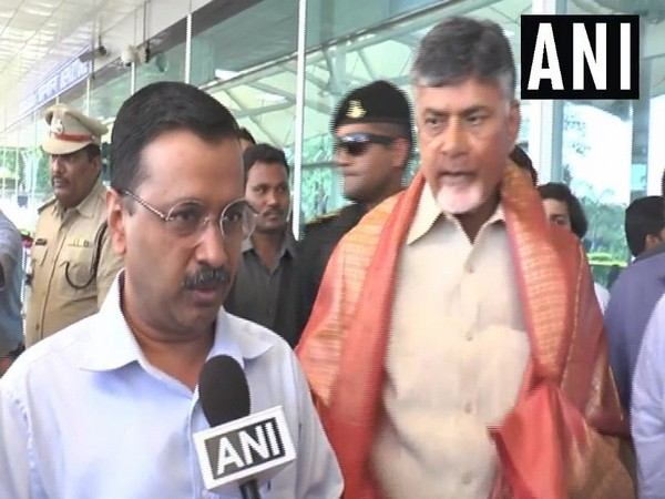 Delhi CM Arvind Kejriwal arrived at Vijayawada on Thursday