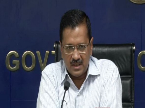 Delhi Chief Minister Arvind Kejriwal addressing a press conference in New Delhi on Saturday. Photo/ANI